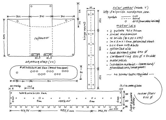 a simpler life el pocito drawing solar oven mark v