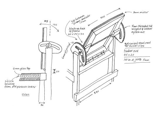 a simpler life el pocito drawing solar oven mark vi